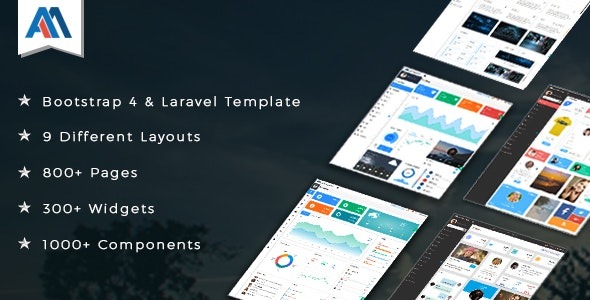 Admire - Bootstrap 4 Admin + Laravel Template - Admin Templates Site Templates