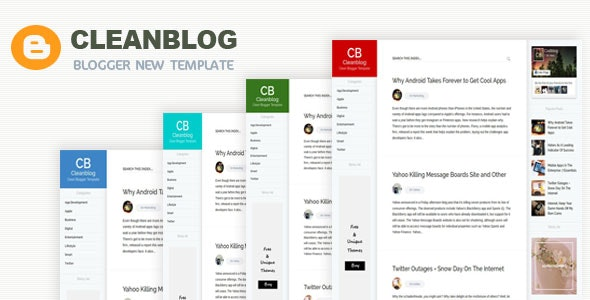 Cleanblog -  A Responsive Blogging Blogger Template - Blogger Blogging