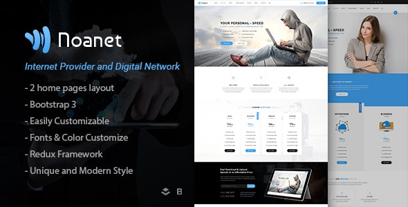 Noanet – Internet Provider And Digital Network WordPress Theme