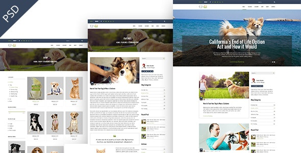 Pet Town - Blog & Shop Template - Creative PSD Templates