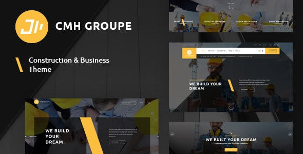 CMH Group - Building & Construction WordPress Theme