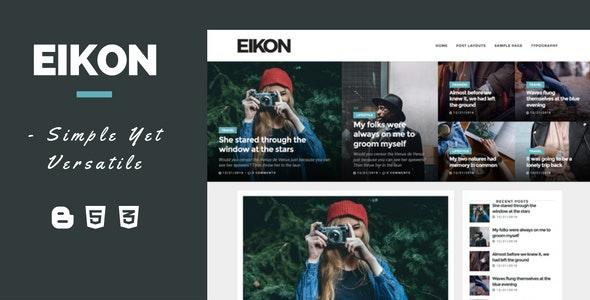 Eikon - A Versatile Multipurpose Blogger Template - Blogger Blogging