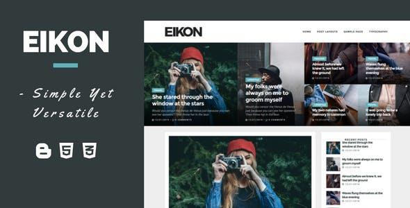 Eikon - A Versatile Multipurpose Blogger Template