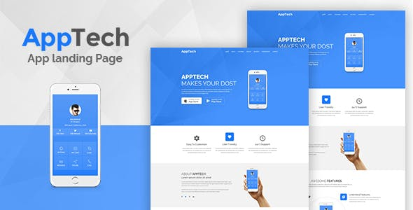 AppTech - App Landing Page WordPress Theme
