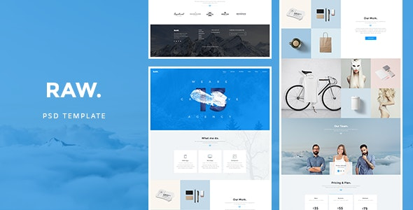RAW - PSD Template - Creative Photoshop