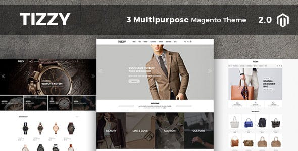 Tizzy - Multipurpose Responsive Magento2 Theme | Fashion | Watch | Cosmetic & Bag