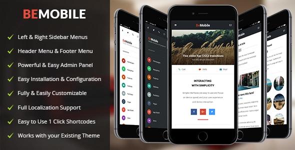 Be Mobile WordPress Theme - Mobile WordPress