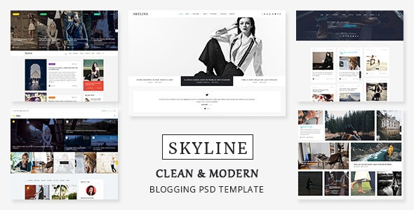 Skyline - PSD template for Bloggers, News and Magazine - Photoshop UI Templates