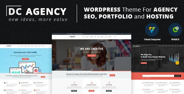 DC Agency : WordPress Theme For Creative Agency, Hosting, SEO Services - Business Corporate