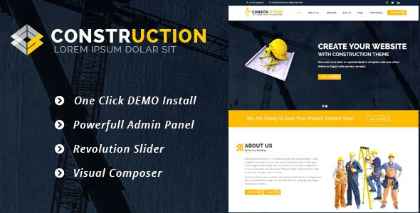 Construction –  WordPress Theme for Renovation Business - Real Estate WordPress