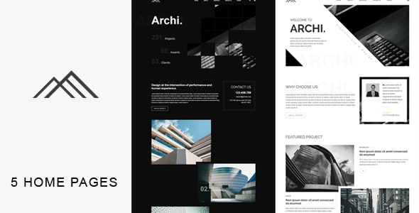 Archi - Architecture HTML Template - Corporate Site Templates