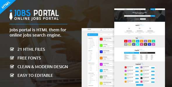 jobs portal business html template by ecreativesol. Black Bedroom Furniture Sets. Home Design Ideas
