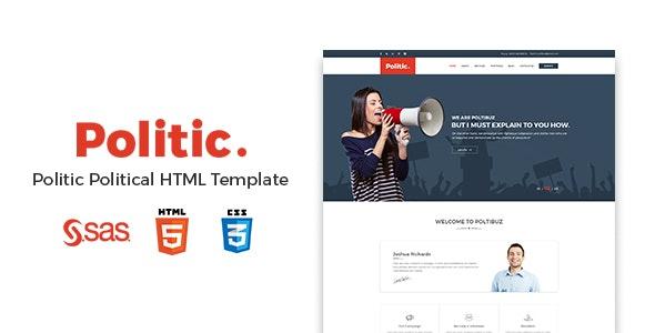 Politic – Political HTML Template - Political Nonprofit