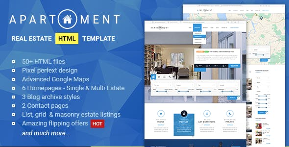 Apartment HTML - Real Estate Multi/Single Property