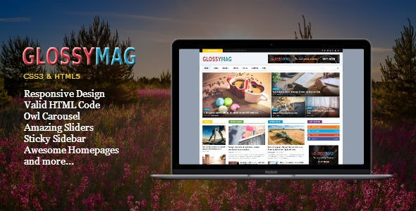 Glossy Mag - News Magazine HTML Template - Entertainment Site Templates