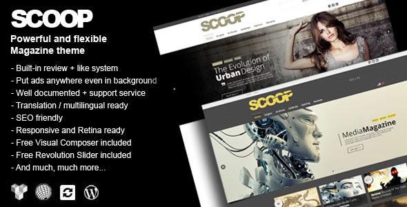 Scoop - A Magazine Theme For WordPress - Blog / Magazine WordPress