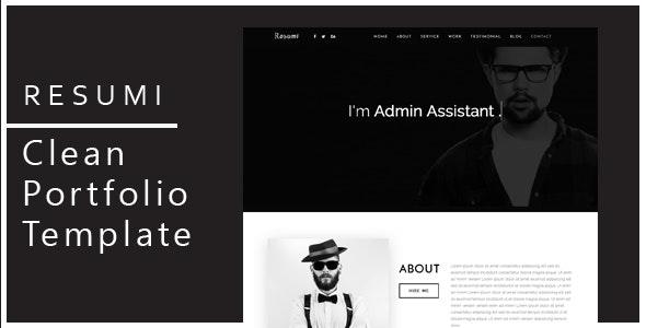 Resumi - Responsive Resume / Personal Portfolio Template - Portfolio Creative