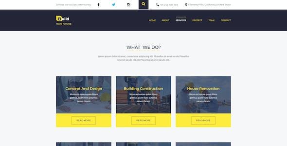 Build Your Future - Construction PSD Template