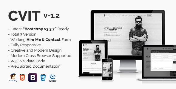 CVIT | Multipurpose Personal Portfolio / vCard / CV / Resume Template - Personal Site Templates