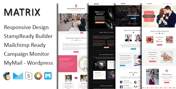 Matrix - Multipurpose Responsive Email Template + Stampready Builder - Email Templates Marketing