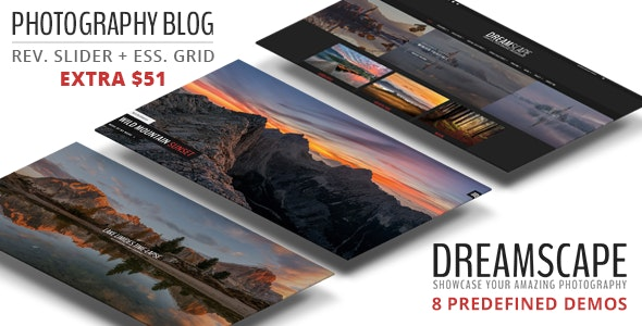 Dreamscape - A Responsive WordPress Photography Blog Theme - Photography Creative