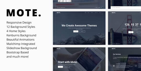 Mote - Versatile Coming Soon Template - Under Construction Specialty Pages