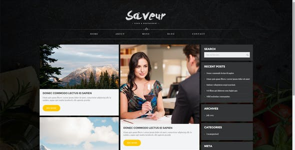 Saveur - Food & Restaurant HTML5 Template