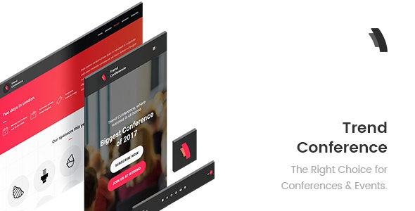 Trend Conference - Event, Meetup, Conference Adobe Muse Template - Corporate Muse Templates