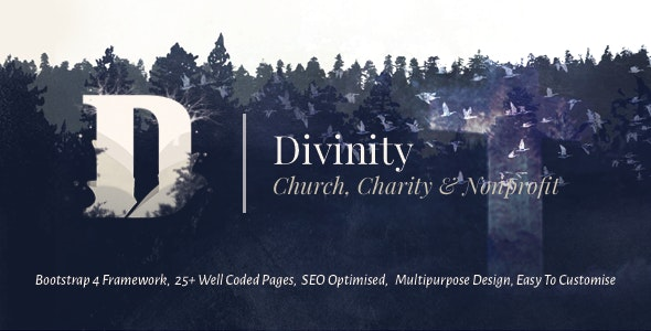 Divinity - Church, Non Profit and Charity Events Bootstrap 4 HTML Template - Churches Nonprofit