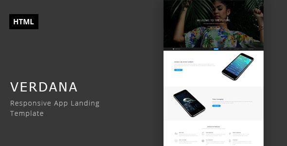 Verdana - Responsive App Landing Template - Technology Site Templates