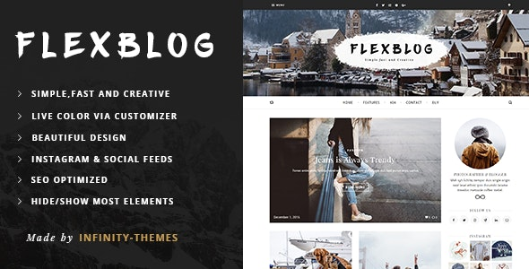 Flexblog -  A Personal WordPress Blog Theme - Personal Blog / Magazine