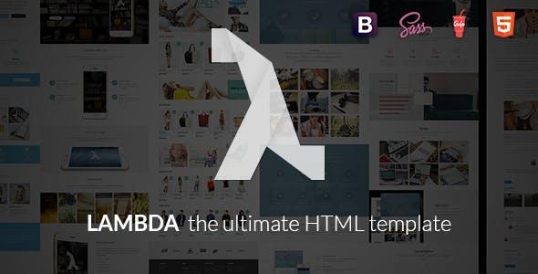 Lambda - Multi Purpose Bootstrap HTML Template