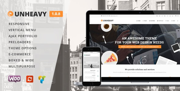 Unheavy - Multi-Purpose Responsive WordPress Theme - Creative WordPress
