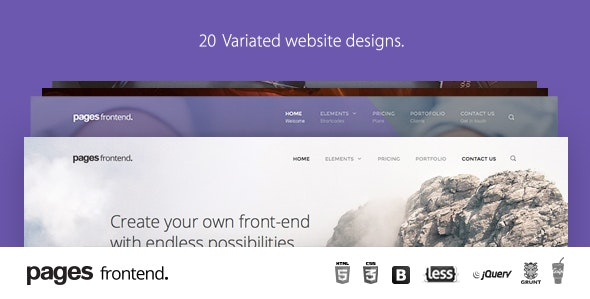 Pages - Multi-Purpose HTML5 Website Template - Creative Site Templates