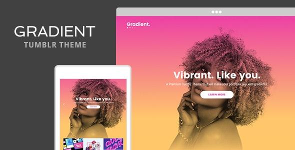 Gradient Tumblr Theme - Portfolio Tumblr