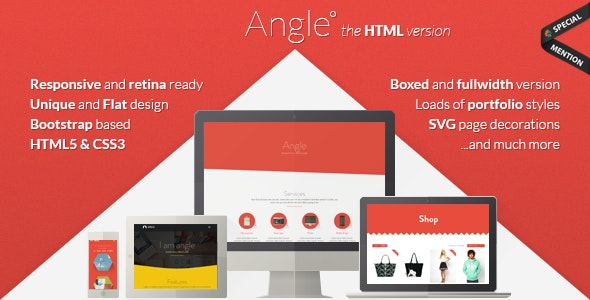 Angle - Flat Responsive Bootstrap Template - Creative Site Templates