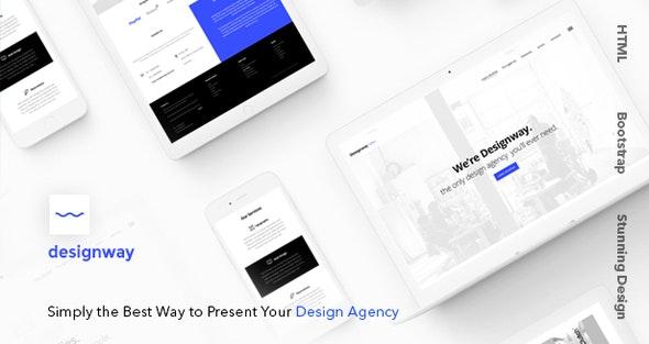 Designway — Design Agency HTML Template - Portfolio Creative