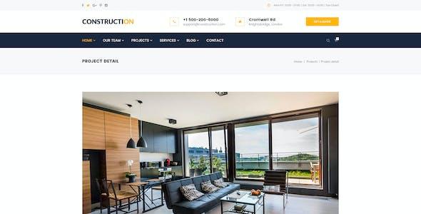Construction – Architecture, Builder, Construction Company PSD Template