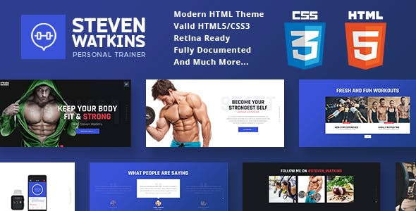 Personal Gym Trainer & Nutrition Coach Site Template