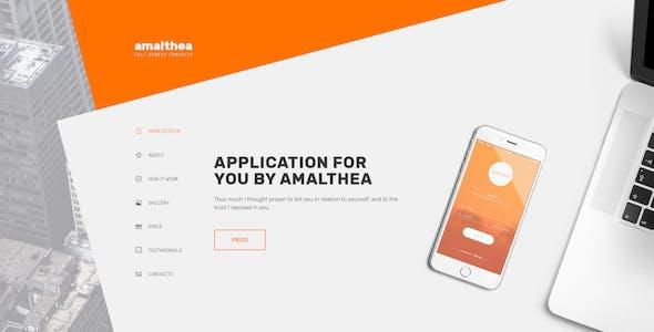 Amalthea — Full Screen App Showcase PSD Template