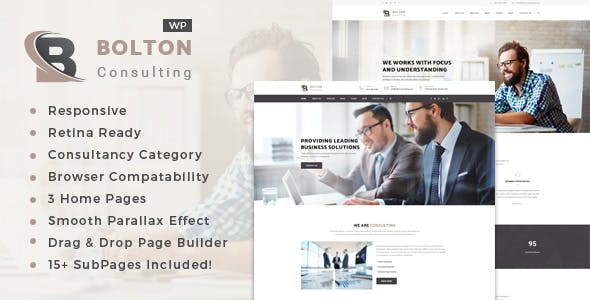 Bolton: Business Consulting Services WordPress Theme
