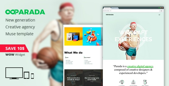 Parada | Creative Agency Muse Template - Creative Muse Templates