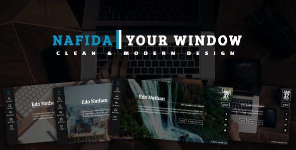 NAFIDA- Personal Business Card Template - Virtual Business Card Personal