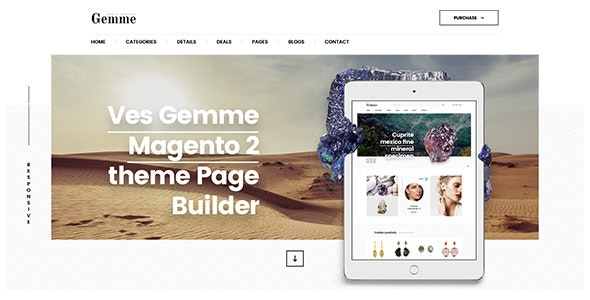 Gemme Magento 2 Pages Builder Template - Shopping Magento