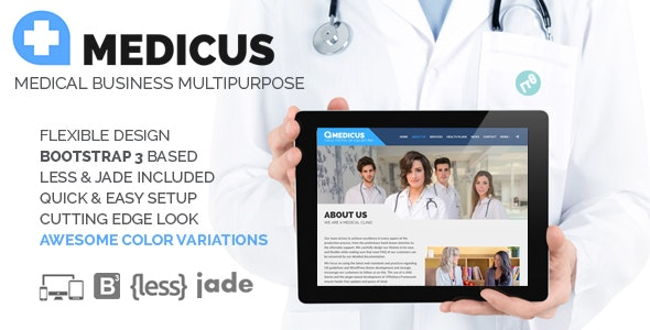 MEDICUS - Medical Business Multipurpose HTML - Health & Beauty Retail