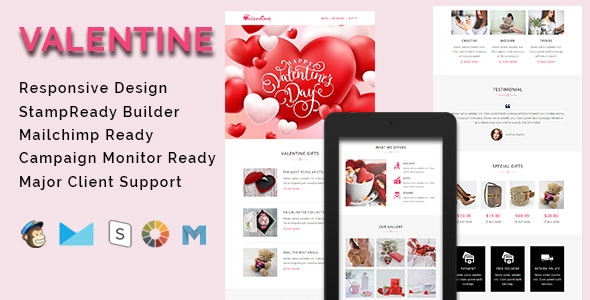 VALENTINE - Responsive Email Template - Email Templates Marketing