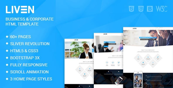 Liven - Modern Corporate - Business & Portfolio HTML5 Template - Corporate Site Templates