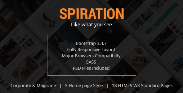 Spiration - Corporate and Magazine HTML Template - Site Templates