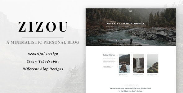 Zizou - A Minimalistic Personal Blog HTML5 Template - Creative Site Templates
