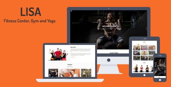 Lisa - Fitness Center, Gym and Yoga Template